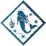 mermaid tile 4x4 6x6 12x12 diagonal
