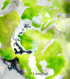 lime puch grey black and white  painting