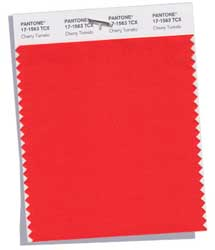 Pantone's Cherry red color