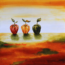 three peppers contemporary art painting