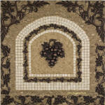 Chateau Grapes kitchen backsplash tile medallion of grapes