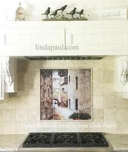 personalized tile mural