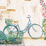 blue bike tile