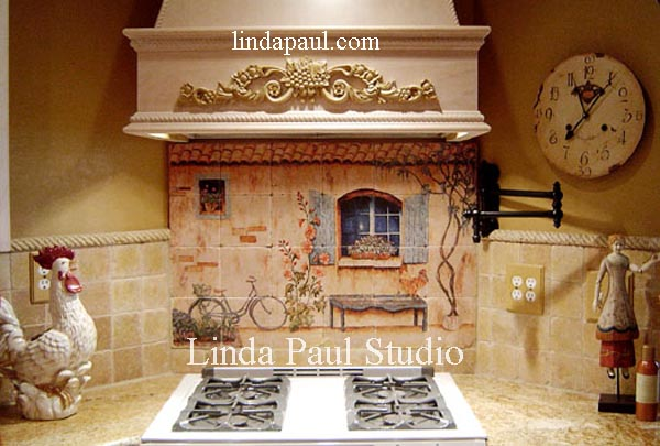 french Country kitchen backsplash ideas