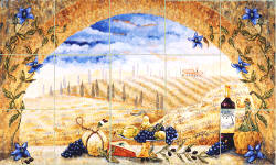 Tuscany Arch ceramic tile murals