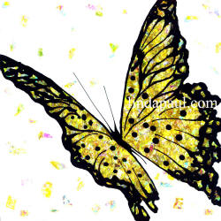 golden yellow butterfly