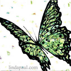 green butterfly tile