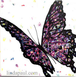 purple butterfly tile