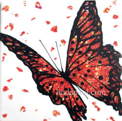 red butterfly tile