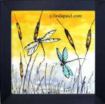 framed dragonfly art