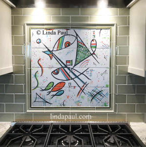 fishing with picasso backsplash