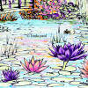 water lily tile