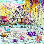 monet garden ceramic tile 12x12