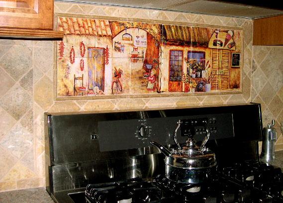 tuscan decor italian tile murals tuscan kitchen