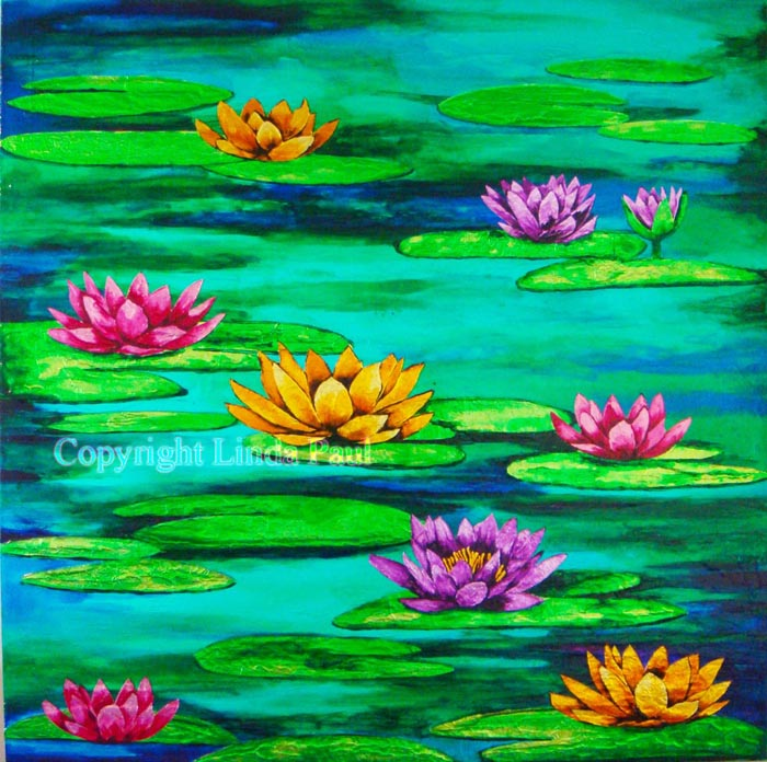 free monet water lilies coloring pages