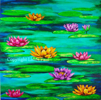 waterlilies painting -original art