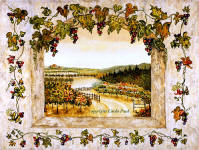 grapes and vines wine decor art print