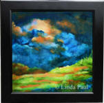 clouds sky landscape acrylic painting