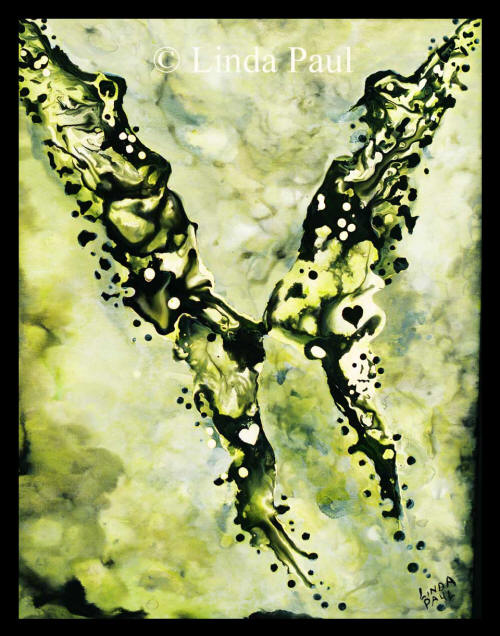 abstract butterfly painting