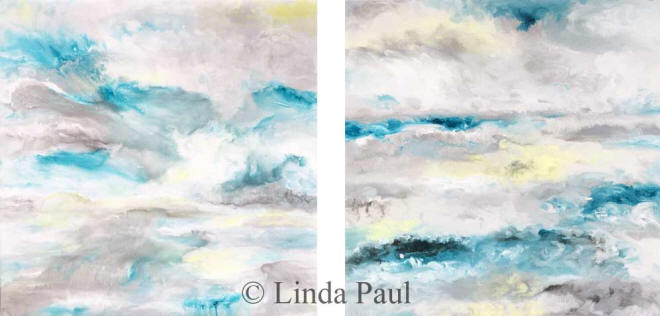 Moody ocean and sky abstract ocean art