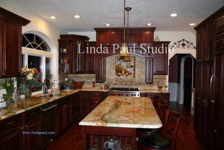 tuscan kitchen splash back ideas and pictures