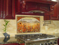 Sunflower Kitchen backsplash