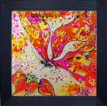ready to hang backsplash abstract butterfly