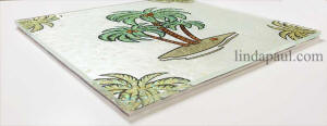 side view of palm tree tile