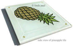 side view of pineapple tile