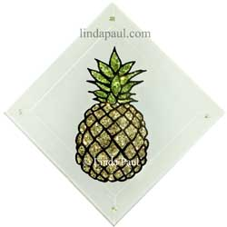 pineapple glass tile accent