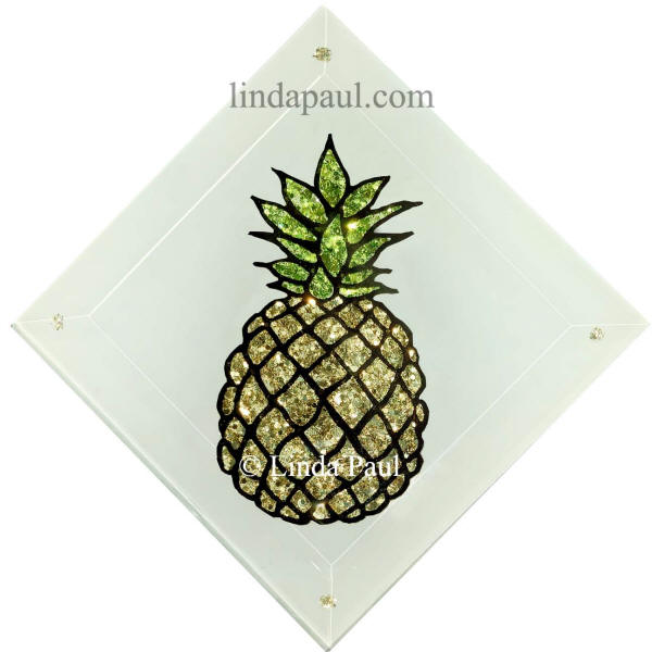 pineapple tile handmade