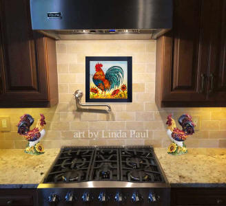 rooster kitchen wall decor art