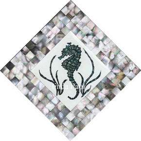 seahorse mother of pearl shell tile mosaic