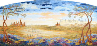 Fileds of Tuscany origina landscape painitng