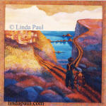 The Road less traveled painting by Linda Paul 1996