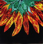 abstract sunflower art painting