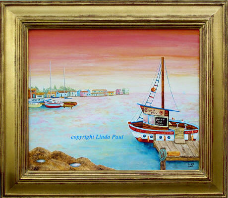 nautical marine art painting of boats