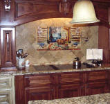 louisiana Kitchen backsplash over large range area