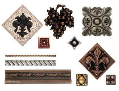 decorative tile metal accents