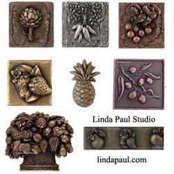 pineapple fruit and vegetable metal tile collection