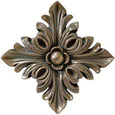 tribecca flower metal accent tile