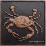 oil rubbed copper crab tile