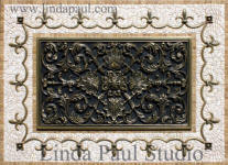 ravenna Backsplash medallion and plaque