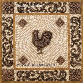 rooster kitchen backsplash tile medallions