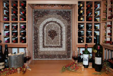 wine cellar tile artwork tile medallion