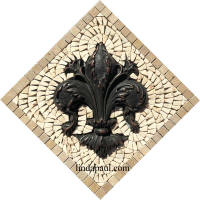 fleur de lis backsplash mini medallion