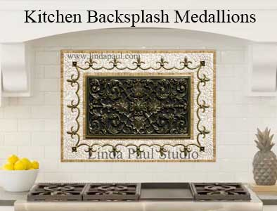 kitchen tile medallions