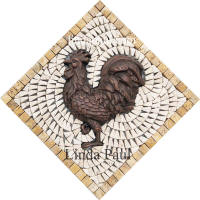 copper rooster medallion