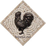 bronze rooster kitchen mosaic  backsplash medlalion