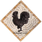 rooster mosaic tile medallion
